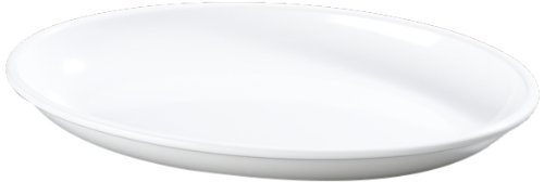 "Carlisle 791402 Designer Displayware Melamine Oval Platter, 2 Qt Capacity, 14"" Length X 10"" Width X 2"" Height, White (Case Of 4)"