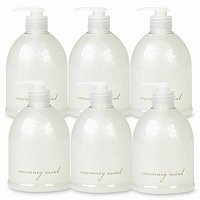 de-luxe BAIN Liquid Soap, Full Case, Rosemary Mint 17 fl oz (500 ml)