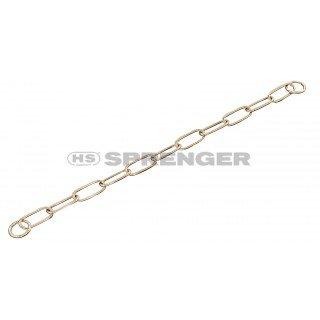 Artikelbild: Kettenhalsband Langgliedkette mit 2 Ringen Curogan 4 mm für Hunde bis 70 kg (72 cm)