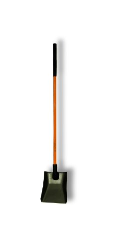 "Nupla NC-SP14LPY Power Pylon Square Point Shovel with Heavy-Duty 14 Gauge Solid Back Blade and Butt Grip, 48"" Solid Long Handle"
