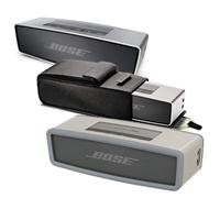 Bose Soundlink Mini Bluetooth Speaker, Up To 30 Ft Wireless Range, Silver - Bundle With Bose Sl Mini Speaker Travel Bag, Bose Mini Bluetooth Speaker Soft Cover - Grey