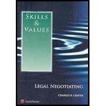 Skills & Values: Legal Negotiating