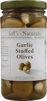 Jeff's Naturals Garlic Stuffed Olives, 7.5 oz