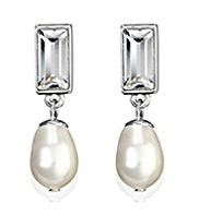 Autograph Mirror and Pearl Effect Earrings MADE WITH SWAROVSKI® ELEMENTS