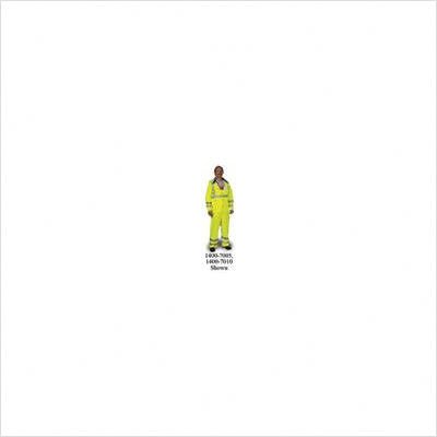 High-Vis Green Road Crew PVC Heavy Duty .40mm PVC/Polyester Plain Front Rain Pants With Precision Fit Technology