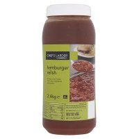 Chefs Larder Hamburger Relish 2.4kg Suitable For Vegetarians