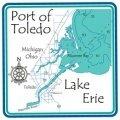 "Erie - Port of Toledo 4.25"" Square Absorbent Coaster"