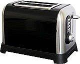 Sabichi Manhattan 2 Slice Toaster Stainless Steel Black