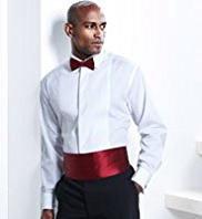 Plain Bow & Cummerbund Set