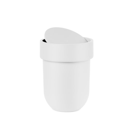 Umbra Touch Waste Can with Lid, White (Trash Can With Lid White compare prices)
