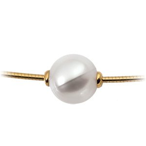 18k Yellow Gold South Sea Cultured Pearl Necklace 12mm Fine - JewelryWeb
