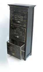 Kommode, HxBxT: 98x36x26cm, Holz/Metall