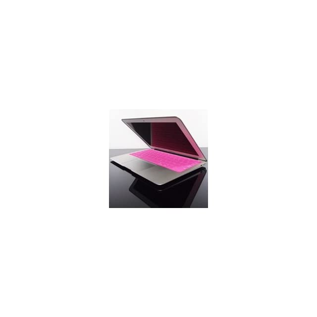 TopCase SOLID PINK Keyboard Silicone Cover Skin for Macbook AIR 11 A1370 with TOPCASE Logo Mouse Pad