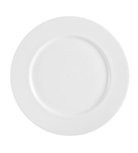 CAC China MAJ-21 12-Inch Majesty Bone China Plate, Box of 12