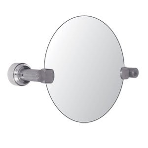 Oval mirrors for bathrooms for Oval swivel bathroom mirror