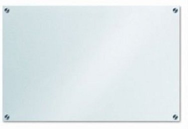 "Frosted Glass Dry-Erase Board - 23 5/8"" x 35 1/2"" - 60 x 90 cm"