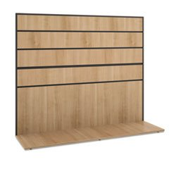 ** Manage Series Work Wall, Laminate, 60w x 17d x 50h, Wheat *
