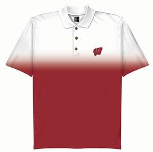 Wisconsin Shaded Solid Polo by Chiliwear LLC