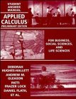 Applied Calculus, Student Answers: For Business, Social Sciences and Life Sciences, Preliminary Edition (0471111163) by Hughes-Hallett, Deborah