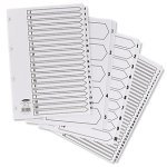 Concord Classic Index Mylar reinforced Punched 4 Holes 1 31 A4 White Ref 03101CS31 03101
