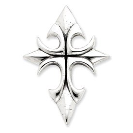 Sterling Silver Antiqued Cross Pendant - JewelryWeb
