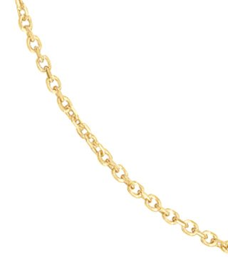 Yellow Gold Filled Diamond Cut Cable Chain Link 24