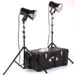 Smith Victor 401460 Photoflood K82 2-Light 500-Watt Ultra Cool Portable Kit
