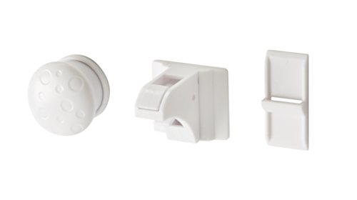 Parent Units Action Latch Magentic Drawer and Dorr Cabinet Latch, White, 4 Pack - 1