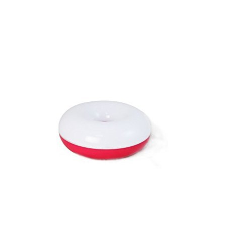 LOHOME(TM) Lovely Donuts Touch Lamps Little Night Light Energy Saving Lamp Mini USB Charge Romantic LED Lighting (Red)