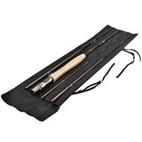 PLUSINNO Lightweight Ultra Portable Fly Fishing Rod Graphite Pole with Toray Carbon Fiber Blanks and Chromed Stainless Steel Snake Guides 4-Piece with Rod Case (5-6#) (Fly Fishing Pole compare prices)