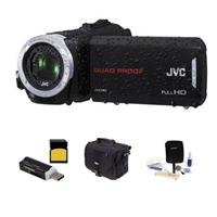 Jvc Everio Gz-R30 Quad Proof Full 1080P Hd Camcorder - Bundle With 8Gb Class 10 Sdhc Card, Video Bag, Cleaning Kit