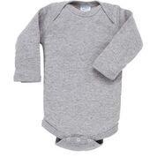 Rabbit Skins 100% Cotton Infant Baby Long Sleeve Bodysuit [Size 12 Months] Heather Gray Long Sleeve Onesie