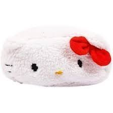 Hello Kitty Die-Cut Fluffy Pouch (Japan Import) - 1
