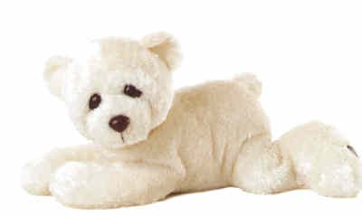 Plush White Woe Bear 12''