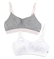 2 Pack Angel Cotton Rich Sports Bras