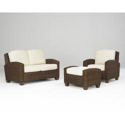 Picture of Home Styles Cabana Banana Chair, Ottoman and Loveseat - Cocoa (5402-200) (Sofas & Loveseats)