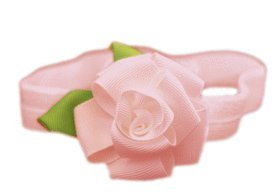 Baby Flower Headband for Infant, Baby, Toddler. Ribbon Rose