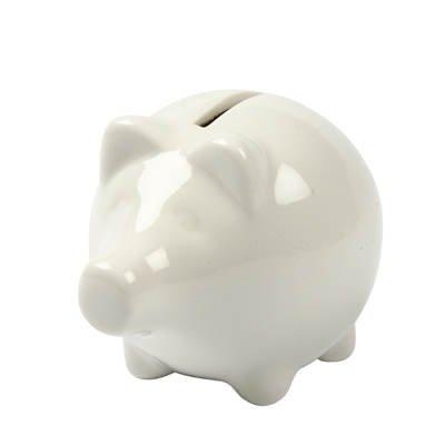 Porzellan Sparschwein, Höhe ca. 8cm