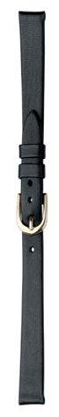 SPEIDEL Ladies Genuine Leather Watchband, Color Black, Size 8mm, – BONUS – 2 extra Spring Bars…