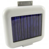 Solar Charger Battery for iPhones, iPods, USB Devices - WHITE OR BLACK