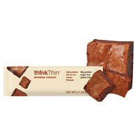 Think Thin Low Carb Bars BROWNIE, Case of 10/2.1 OZ