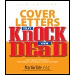img - for Cover Letters That Knock 'em Dead by Yate,Martin. [2006,7th Edition.] Paperback book / textbook / text book