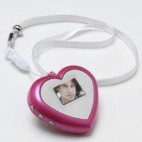 Heart Shaped Digital Keychain Photo Holder