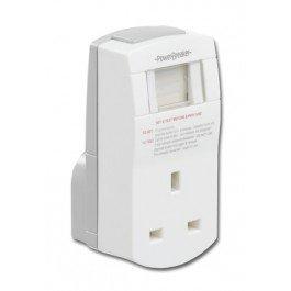 Green Brook J02-C PowerBreaker RCD Plug Adaptor White