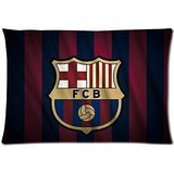 Custom Barcelona FC Rectangle Pillowcase Pillow Case Cover Standard Size 20*30 Inch (Twin Sizes)