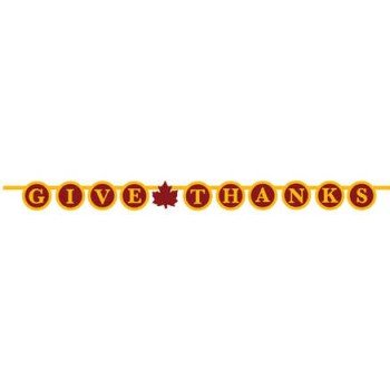 Creative Converting Thanksgiving, Give Thanks, Jointed Decoration Banner