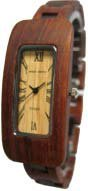 Tense Ladies Oblong 2 Tone Solid Sandalwood Wood Watch L8221SD