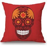 Alphadecor Skull Pillowcase 18 X 18 Inches / 45 By 45 Cm For Office,kids Girls,dinning Room,sofa,her,couch With Each (Rage Rubber Wig)
