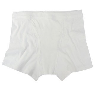 Ecoland Men's Organic Cotton Boxer Brief w/ elastic-free waistband - White M