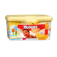 Huggies Soft Skin with Shea Butter Baby Wipes, 64 ct. (2-pack) - 1